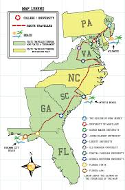 Map East Coast Florida by The Ultimate East Coast College Tour Final Anthony Mclean