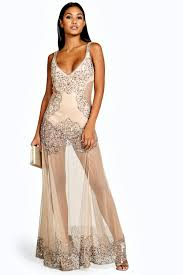boutique naty embellished placement maxi dress boohoo
