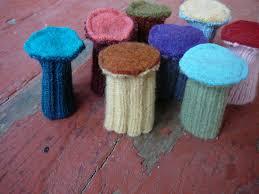 Bottom Of Chair Protectors by Custom Chair Socks Pure Wool Floor Protectors