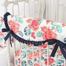 Turquoise And Pink Baby Bedding Neutral Boys Baby Bedding Gray Crib Bedding Rosenberry Rooms