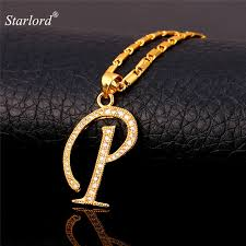 necklace pendants personalized images Initial p letter pendants necklaces women men personalized gift jpg
