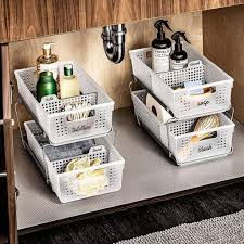 the kitchen sink cabinet organization best sink storage products popsugar home