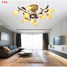 plafond chambre design italien style fer plafond lumières avec led oules pour