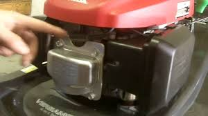 how to replace a spark plug u0026 air filter on a honda mower youtube