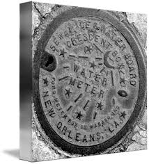 new orleans water meter cover new orleans water meter cover black white by marquis
