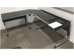 Ecktisch Schreibtisch Schreibtisch Winkel Kombination Stellar Sicherheitsglas Ecktisch