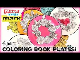 book plates dishes coloring book dishes 3 steps