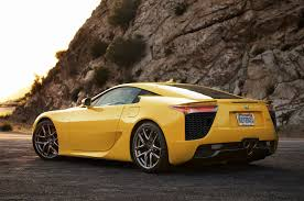 custom lexus lfa yellow lexus lfa rear view rssportscars com