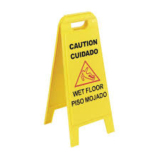 24 in banana cone multi lingual caution wet floor sign 3 pack