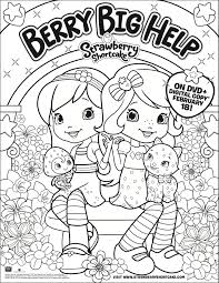 strawberry shortcake dvd and strawberry shortcake coloring page
