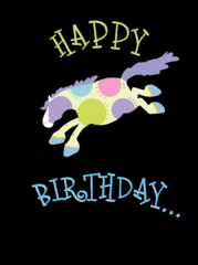 equine birthday cards horse hollow press