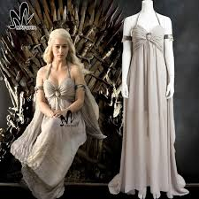 Games Thrones Halloween Costumes Aliexpress Buy Game Thrones Season 1 Daenerys Targaryen