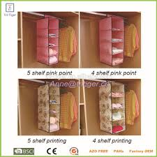 multi purpose wardrobe closet fabric hanging closet shelf