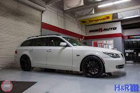 e61 bmw 535xi on rohana rc10 wheels u0026 h u0026r springs
