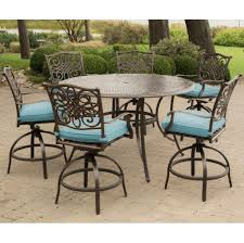 Patio Table Bar Height Outdoor Patio Dining Sets With Umbrella Balcony Height Patio