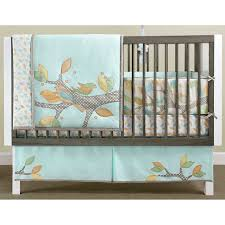 Crib Bedding Neutral Neutral Baby Room Idea With Colorful Summer Birds Theme Comforter