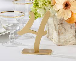 wedding table number holders as gold classic table numbers 1 6 by kate aspen