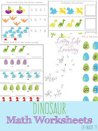 pattern math worksheets preschool dinosaur kindergarten math worksheets
