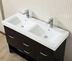 espresso 47 inch double sink modern vanity cabinet