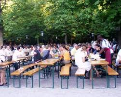 German Beer Garden Table by A Beer Garden Is A Typical Munich Institution
