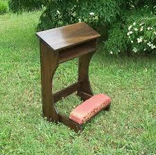 Garden Kneeler Bench Folding Prayer Kneeler Or Prie Dieu From Reclaimed Wood