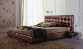 Leather Upholstered Bed Double Bed Contemporary Upholstered Leather Vogue Bolzan