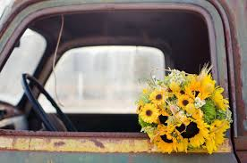 Sunflower Wedding Bouquet Sunflower Theme Wedding Rustic Wedding Chic