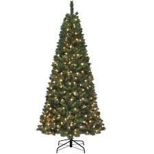 starlite 7 5 ft pre lit slim michigan pine tree trees