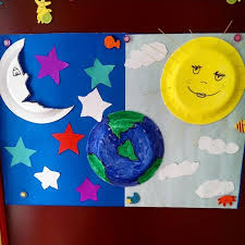 paper plate moon craft crafts and worksheets for preschool