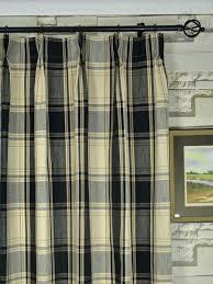 Country Plaid Curtains Navy Gingham Curtains Plaid Shower Curtain Primitive Bathroom
