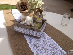 Navy Blue Lace Table Runner Decor Pretty Burlap Table Runner For Beautiful Dining Table