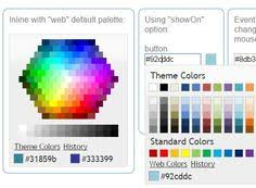colorselect is a really simple jquery plugin which converts a