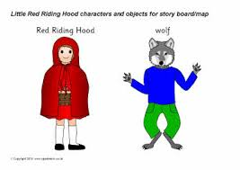 red riding hood cut characters sb3450 sparklebox