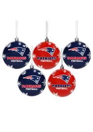 nfl new patriots ornament set
