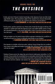 the outsider a novel anthony franze 9781250071668 amazon com