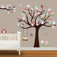 wandtattoo baum babyzimmer wandsticker kinderzimmer eule wohnkultur wandtattoo kinderzimmer