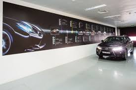 lexus dealership interior analysing car showroom design by al futtaim interiors design