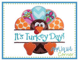 applique corner applique design turkey split thanksgiving