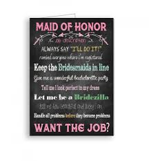 maid of honor card will you be my maid of honor job description
