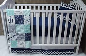 Navy Blue Chevron Crib Bedding by Bedroom Fun Way To Decorate Your Kids Bedroom With Nautical Crib