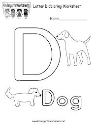 letter d worksheets kindergarten worksheets