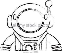 drawing astronaut suit helmet space stock photos u0026 drawing