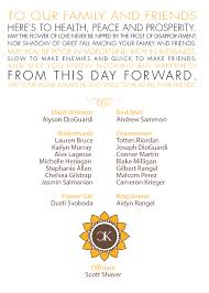 Examples Of Wedding Program Thank You Message Samples Fossil Letterpress Wedding Invitations