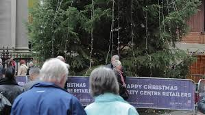 birmingham 28th november 2014 christmas tree tilt busy german
