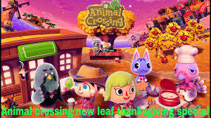 animal crossing new leaf thanksgiving special