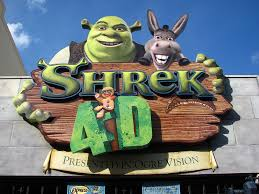 shrek 4 universal studios florida theme park tourist