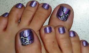 butterfly wings holographic toe nail design youtube