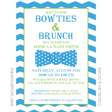 baby shower invitations for brunch