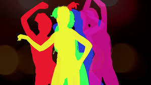 sexy color sexy dancer shadow silhouette in color stock footage video 2695361