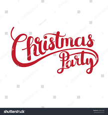 christmas party vector text calligraphic lettering stock vector